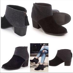 """Toms """"Lacy"""" Suede/Felt Mix Booties Size 9"""